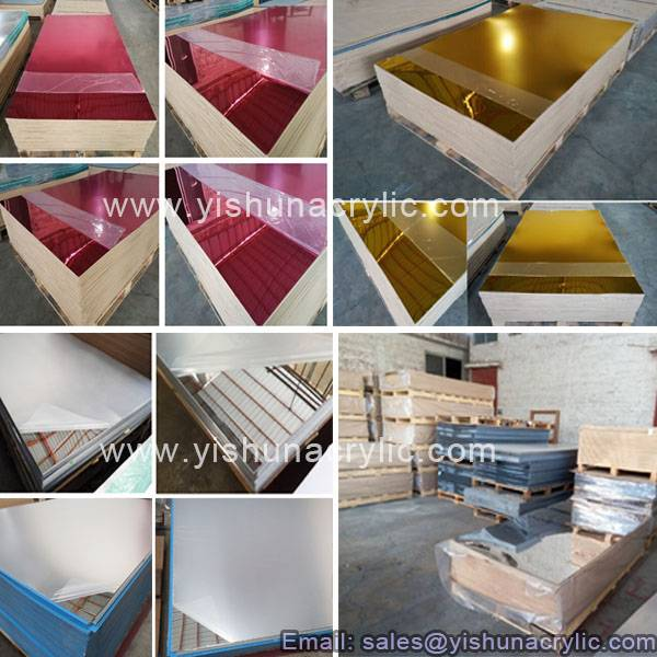 silver/golden color acrylic mirror plastic sheet for home decoration