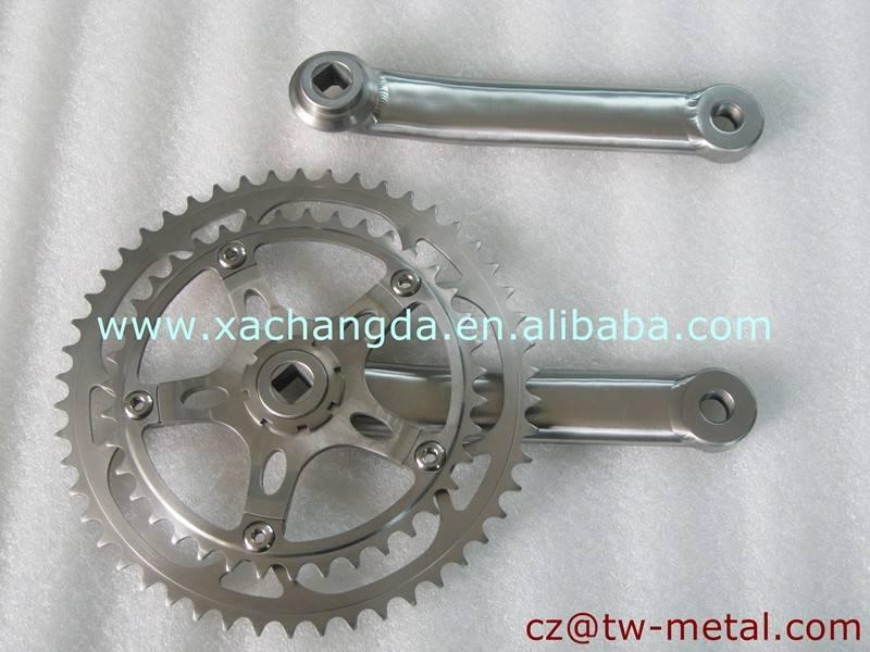 2016 new Titanium bicycle crankset titanium road bike chainring mtb bike chainring & crank arm