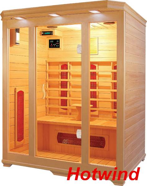 Luxury Infrared Sauna room Ceramic heater for 3 Person