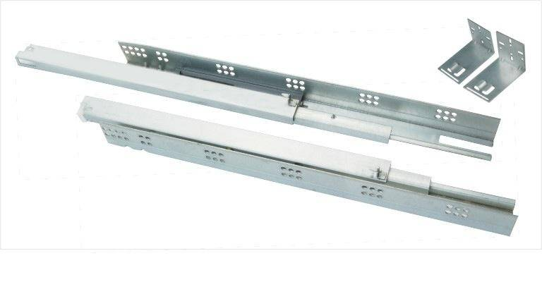 3514D  Full  Extension  Soft Closing Concealed Slide,BAR/US TYPE,WITH STEEL END