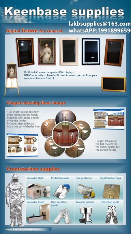funeral equipments,crematorium equipments, funeral viewing light, digital portrait,cremated remains