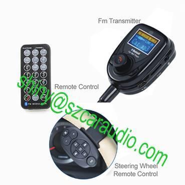 Car Bluetooth MP3 FM Transmitter Supports USB TF(378B)