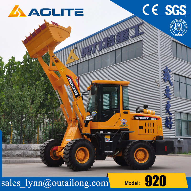 Hydraulic Small Tractor Mini Articulated Wheel Loader With Joystick
