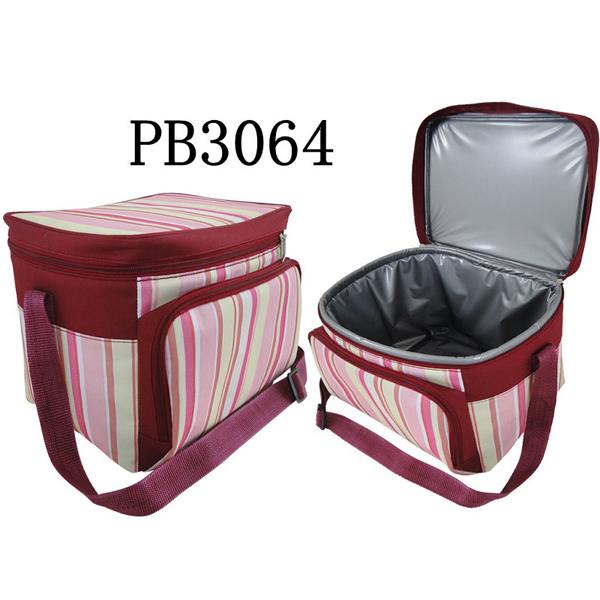 Claret cooler bag / baby bag with color bars fxsdl06
