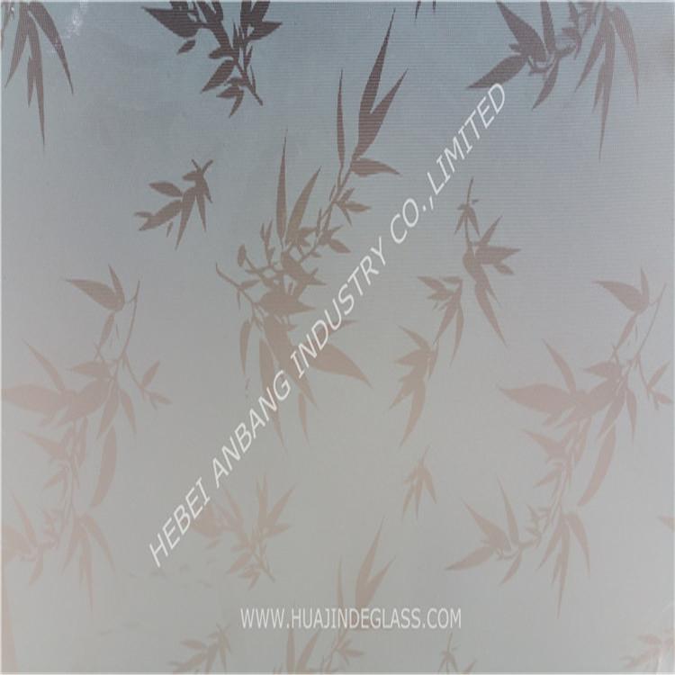 Acid etched glass, decorative art glads