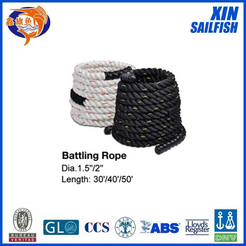 gym training battle rope