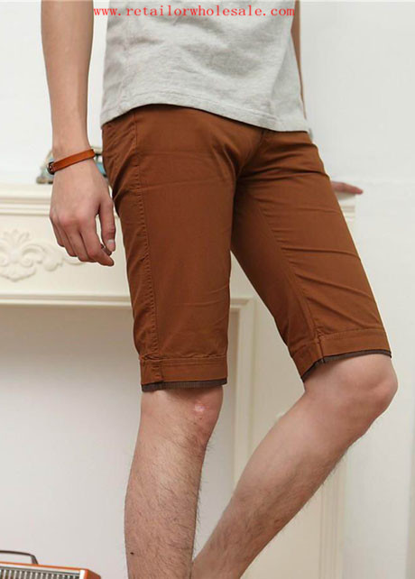 Trade Fashion Essential Knee Length Brown Shorts for Man