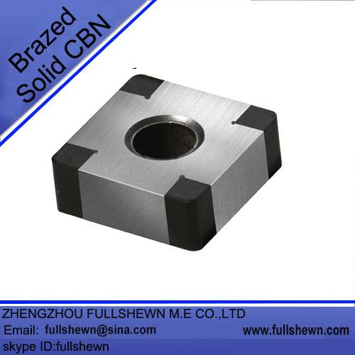 Brazed solid CBN Inserts, CBN cutting tools for metalworking