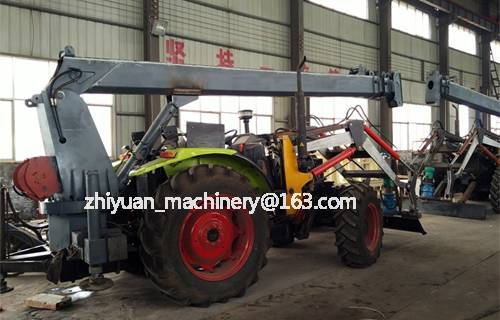 Zhiyuan brand costive and high working efficiency earth drilling machine with hoist