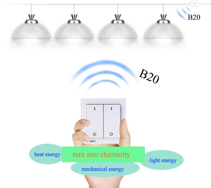 B20 autonomous power supply high quality no minimum quantity wireless switch