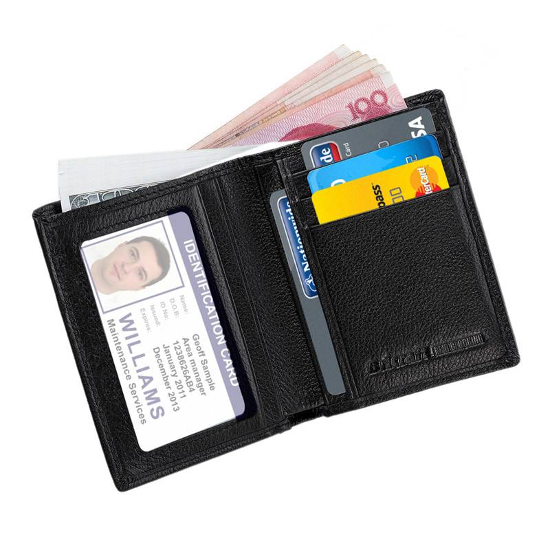 Stop Electronic Pick Pocketing Leather Rfid Wallet