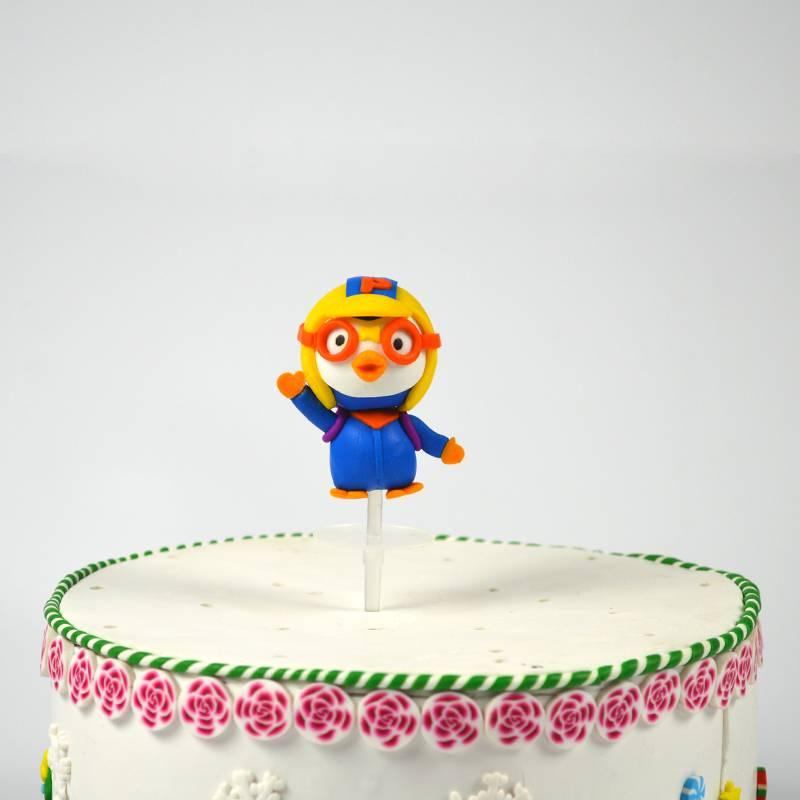 Birthday cartoon shape polymer clay dough cake decoration