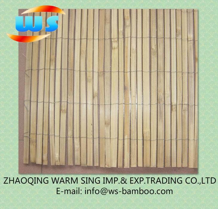 Bamboo slat fence