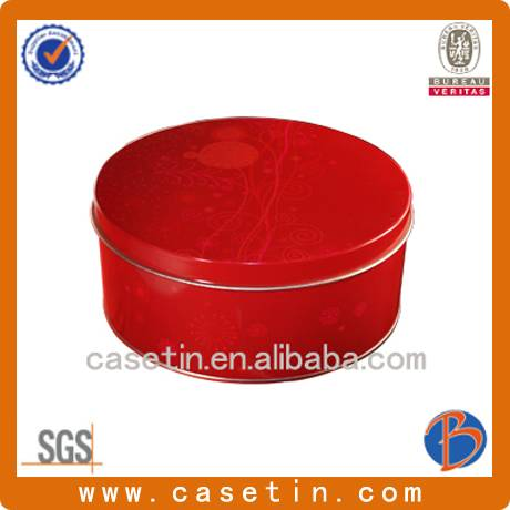 china manufacturing customized OEM small round metal gift packaging tin box