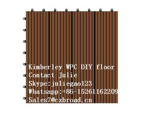 300*300*22mm Made in China Parquet Flooring, Composite DIY Decking