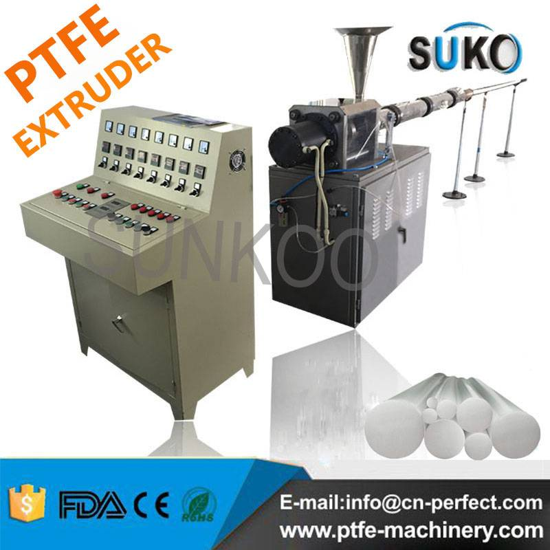 Horizonal Teflon PTFE moulded Rods Bar Extruder Machine