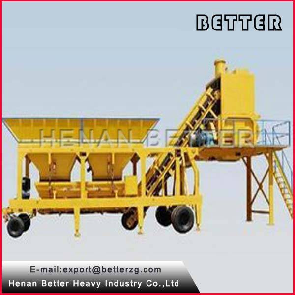 YHZS35 portable concrete batching plant used concrete mixing plant for sale