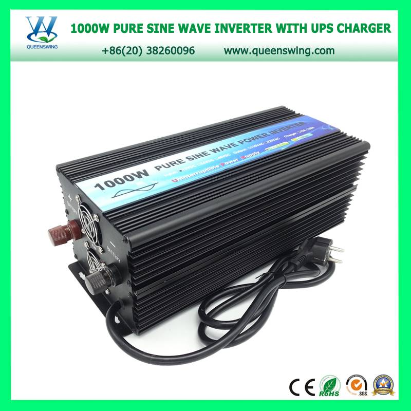Hot sell 1000W 12Vdc to 220Vac Power Inverter pure sine wave with ups charger and digital display