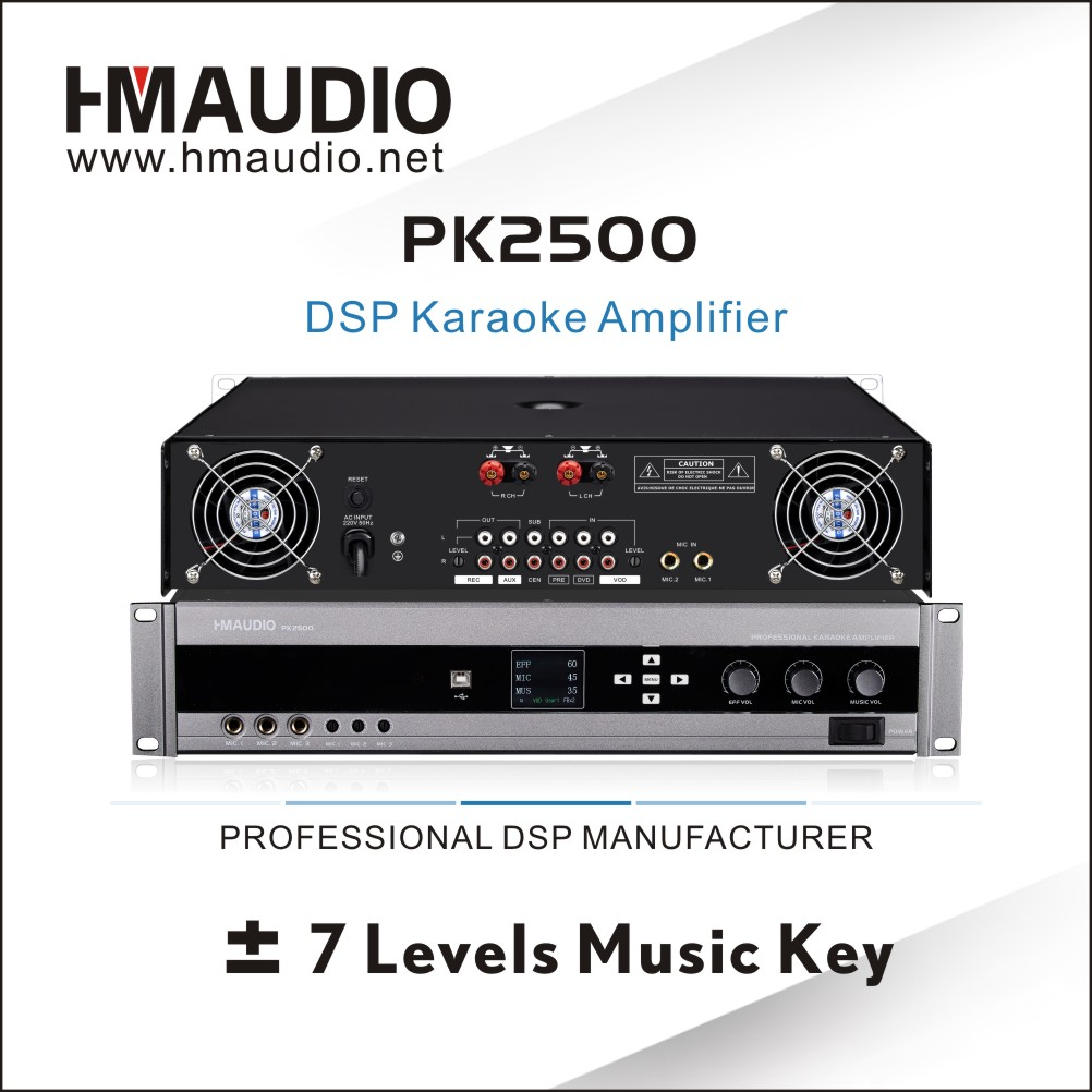 PK2500 High-end Supplier DSP KTV Amplifier