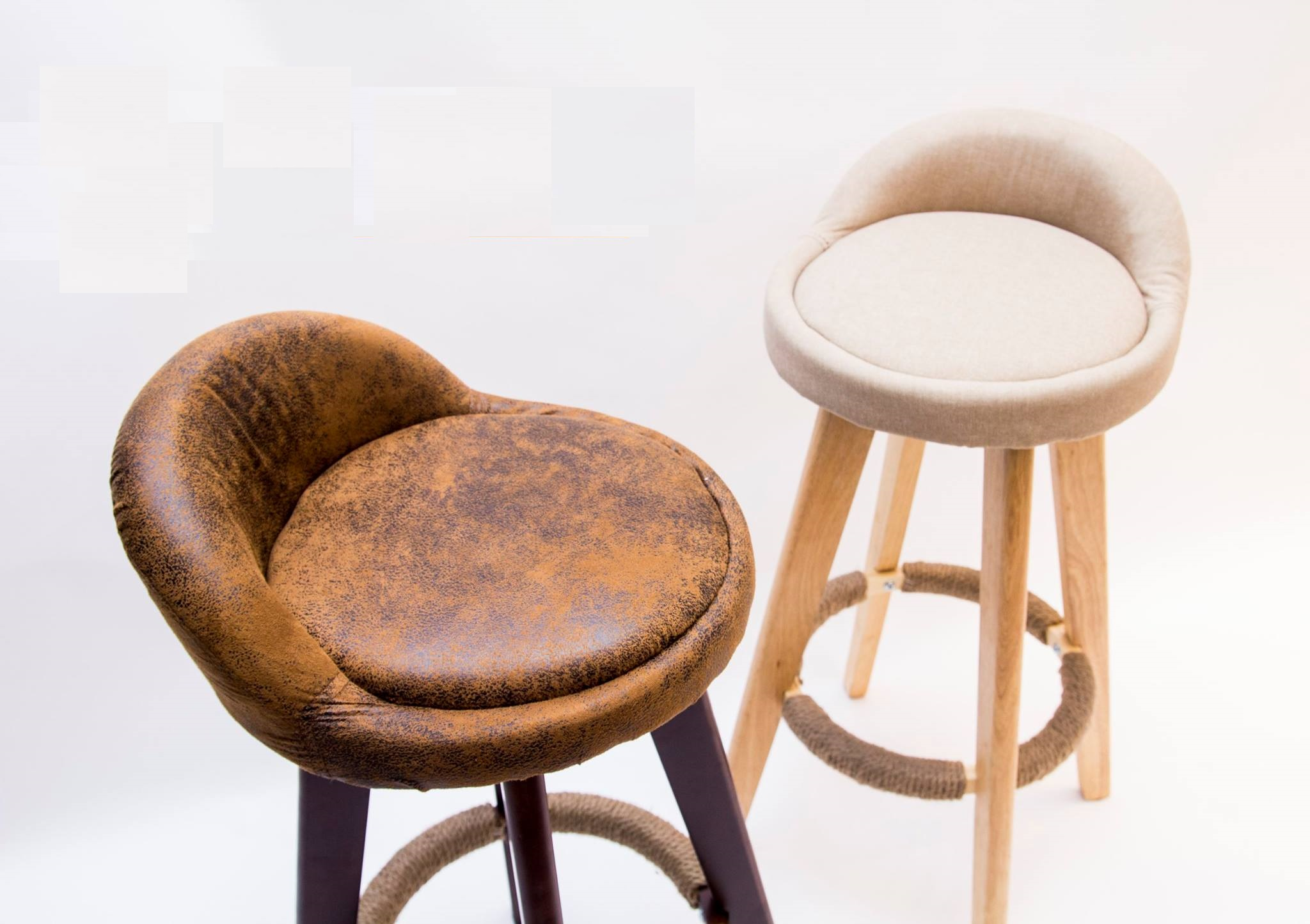 Bar stools with genuine leather