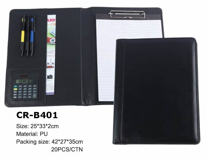 Promotion and Advertising Gift Customized Plastic Pu shape file folder for Business hot sale