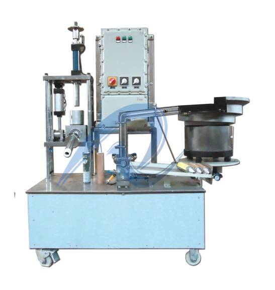 semi-automatic silicone sealant filling and capping machine
