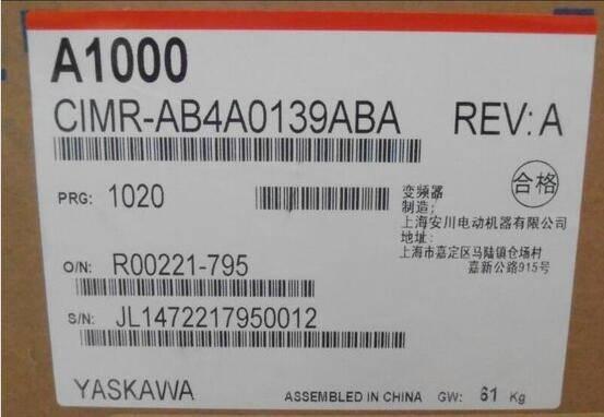 YASKAWA Inverter A1000 Series CIMR-AB4A0139ABA