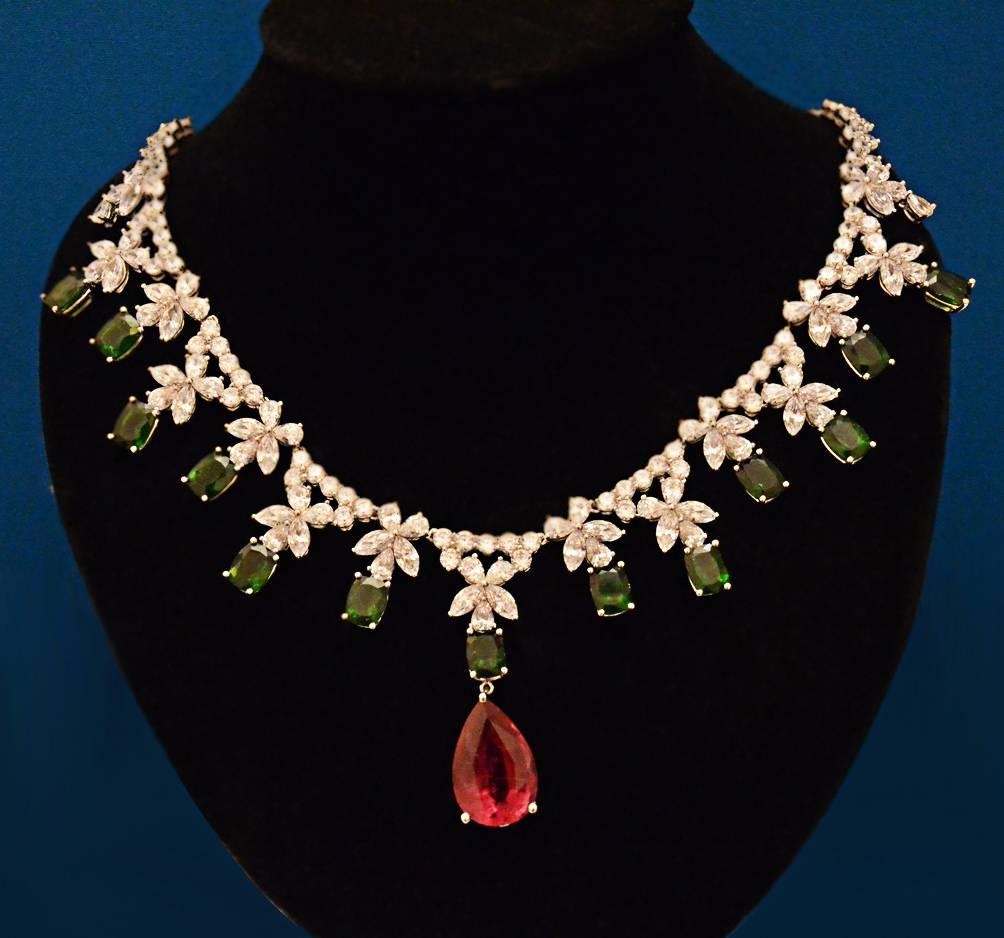 925 Silver Tourmaline Necklace