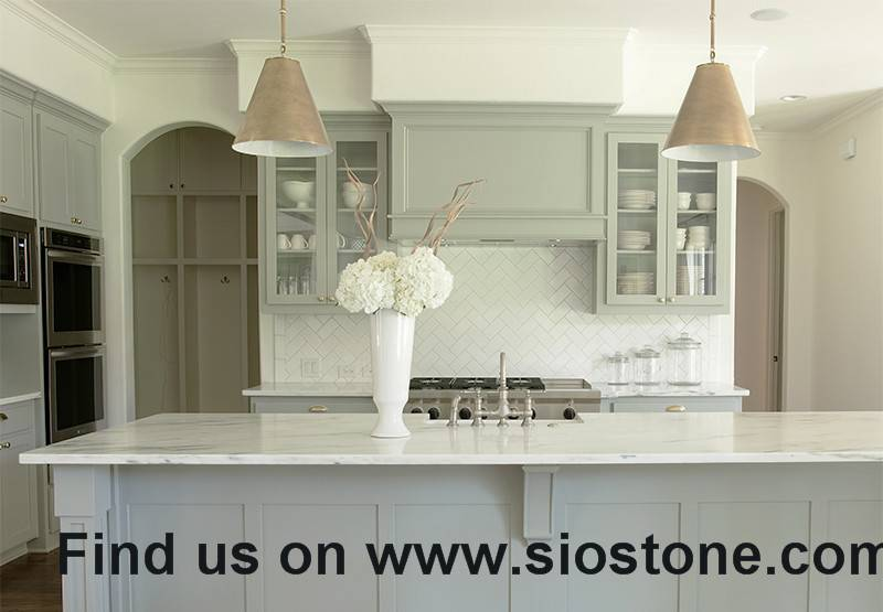 Elegant Artificial Quartz Stone Kitchen Countertop and Vanity Top