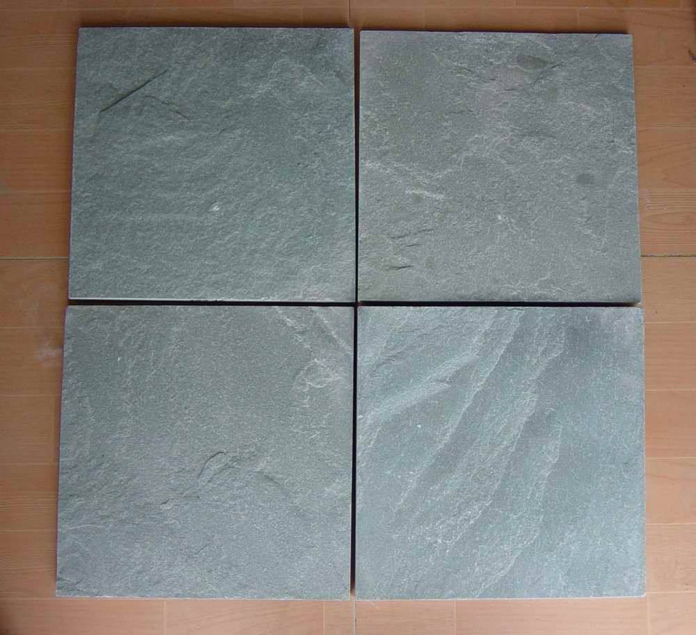 Green slate tile ZF007 natural finish