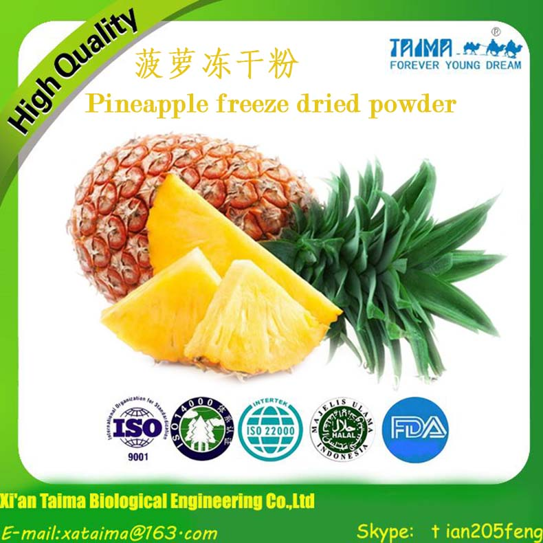 Halal Kosher approved Pineapple Fruit Powder/Freeze-dried Pineapple Powder