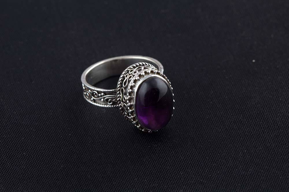 92.5 sterling silver Amethyst Ring