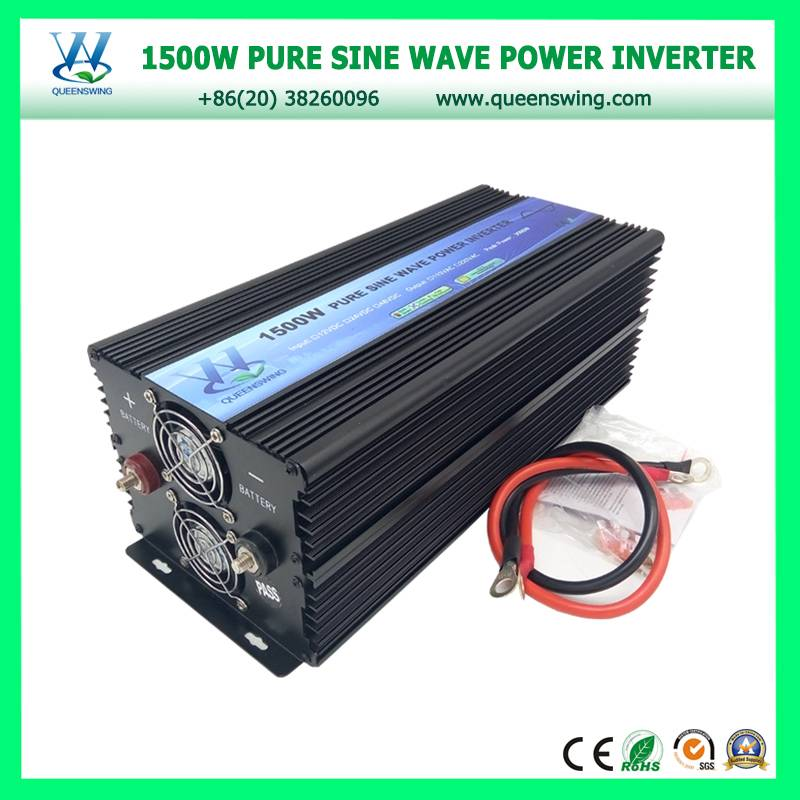 1500W DC/AC 12V/220V Pure Sine Wave Power Converter with digital display