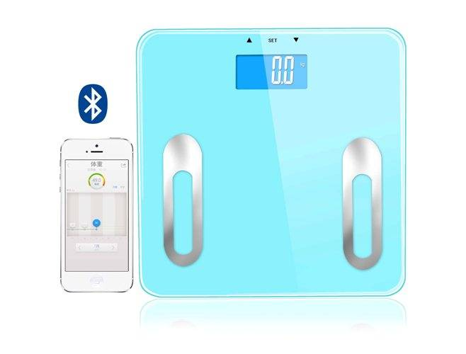 Bluetooth digital body fat scale with large backlight LCD