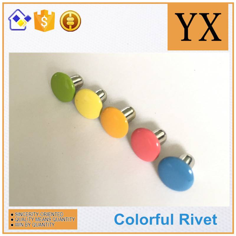 Hollow rivets for stationery Colorful metal fastener rivets