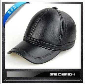 genuine cowhide leather baseball caps factory direct sale fine quality hats