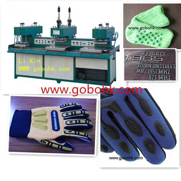 silicone rubber molding machine for embossing Clothing, glove and hats