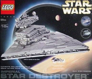 New Lego 10030 Imperial Destroyer Display Rare Set