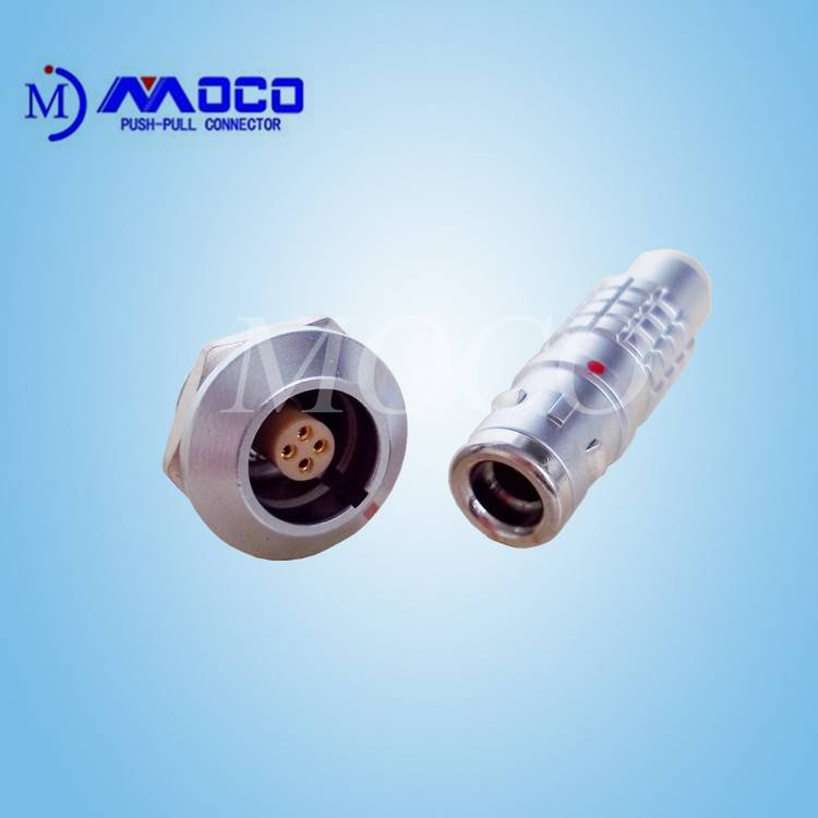 4 pin female and male electrical waterproof wire connector IP 68