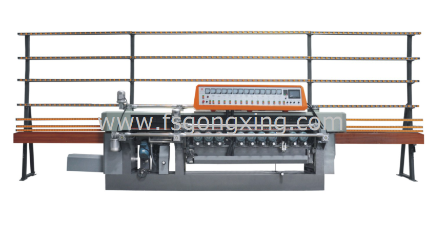 Model GXM13AP(-W) Glass Bevelling & Stragiht-line Edging Integrated Machine.