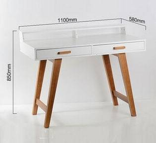 Solid Wood Foot Modern Wood Computer Table / Desk