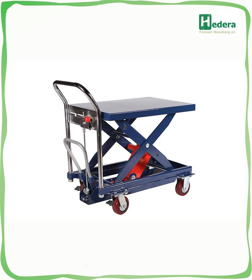 Electric stationary scissor lift for materials handing car lift table