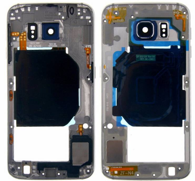 Wholesale Galaxy S6 Middle Frame For Samsung Galaxy S6 Rear Frame