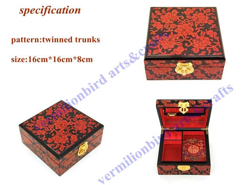 jewelry box, wedding gift, craft. hand made craft,elegant jewerly box,16cm-3