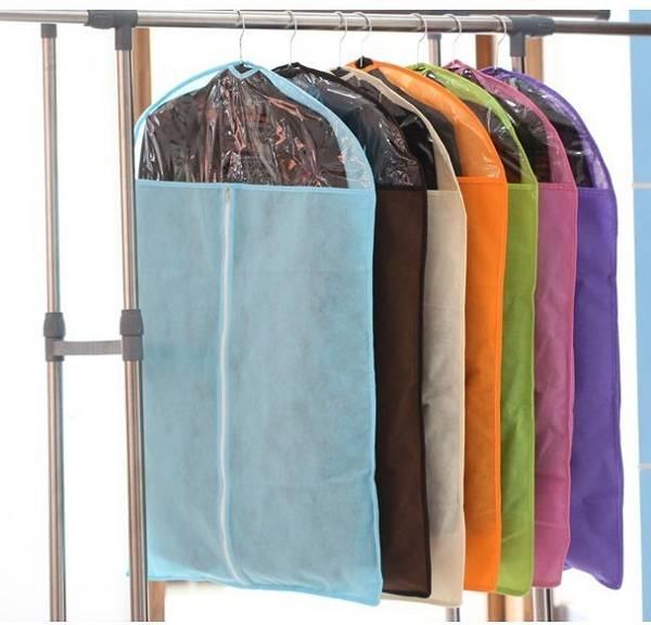 Fancy hanging custom zipper pocket foldable garment bag wholesale