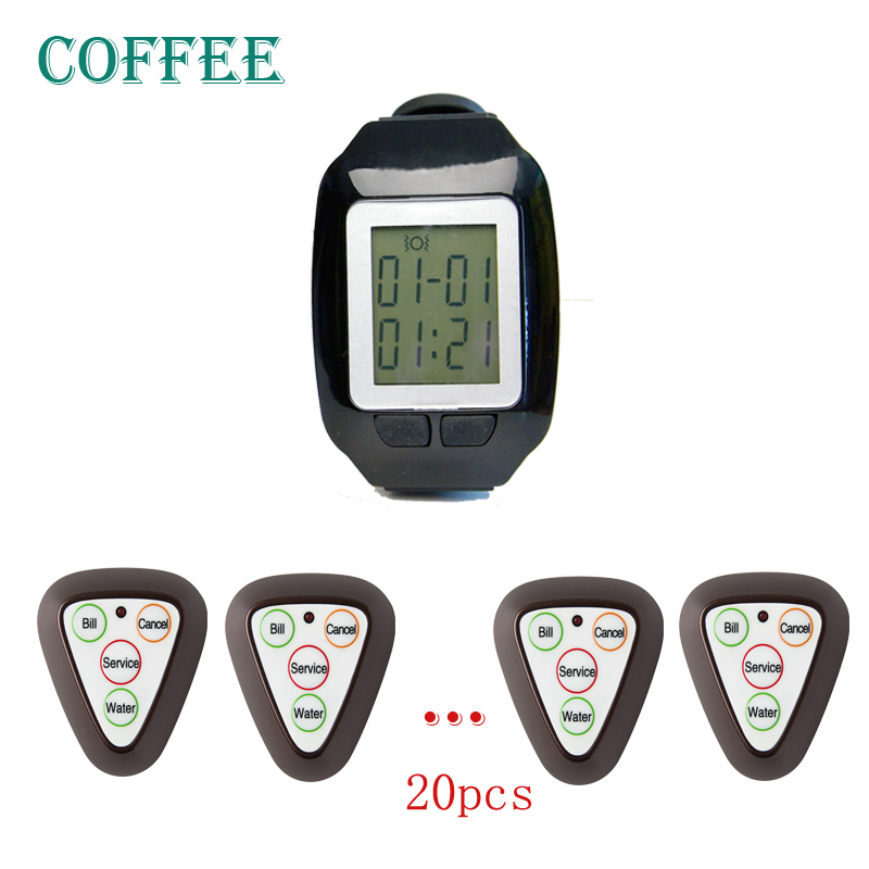 Triangle buttons Wireless calling pager,wrist watch pager,Singcall pagers for restaurant
