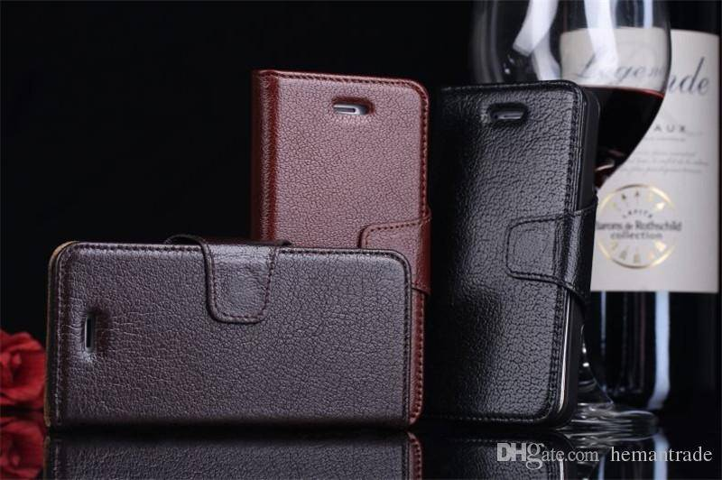 Genuine Yak Leather Cellphone Cases Mobilephone Business Wallet Cover with Card Cash Slots