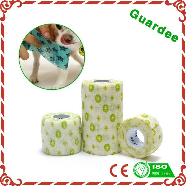 China Patterned Mds Printed Veterinary Colored Cohesive Bandage