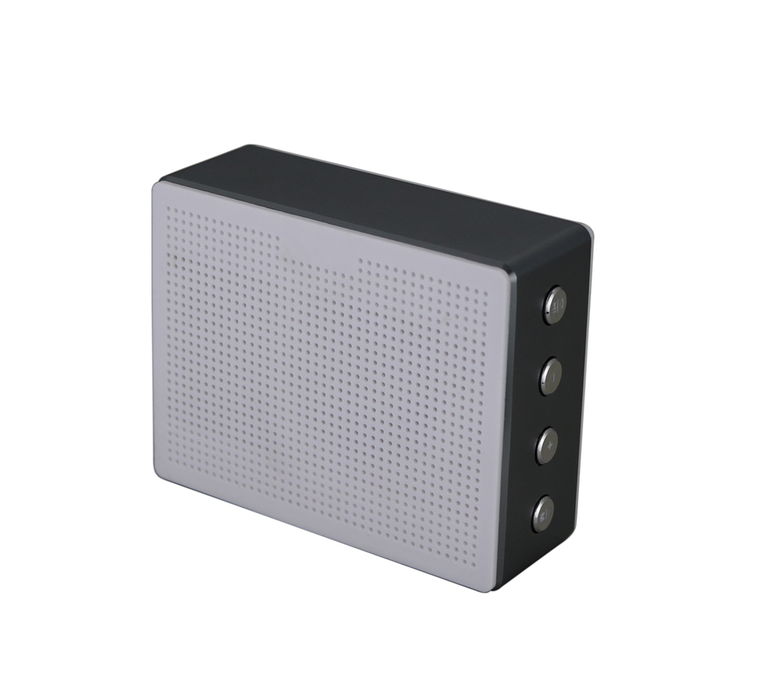 Mini Block Bluetooth Speaker Metal Case Single Driver Small Portable Bluetooth Speaker