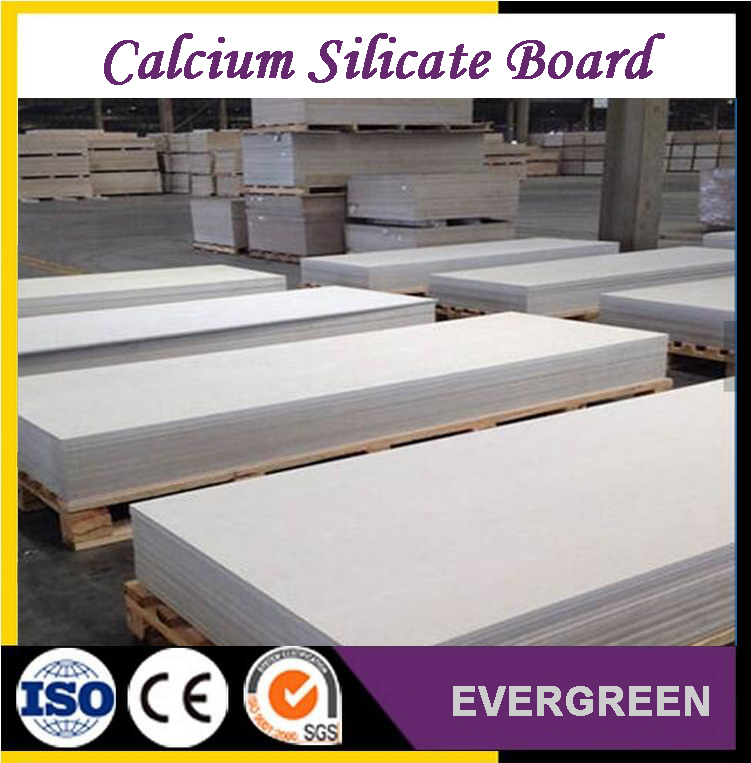 High temperature resistant calcium silicate board for exterior wall